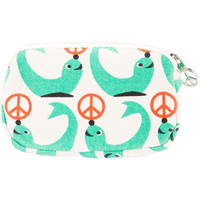 Seal With Peace Sign Ball Canvas Mini Wristlet