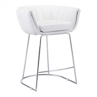 Latte Counter Chair White