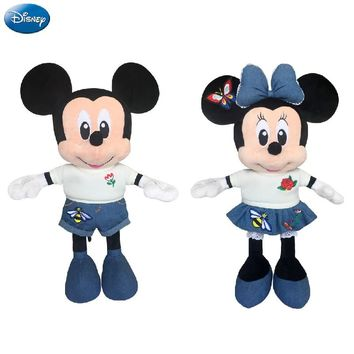 Disney Brand Mickey Mouse Minnie 49cm Big Plush Stuffed Animal Toys Doll Baby Boys Girls Kids Toys for Birthday Christmas Party