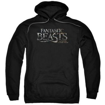 Fantastic Beasts Logo Licensed Adult Hoodie