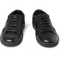 Saint Laurent SL03 Leather and Canvas Sneakers | MR PORTER