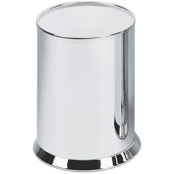 DW 35 Round Open Top Trash Can, Stainless Steel Wastebasket W/O Lid Cover