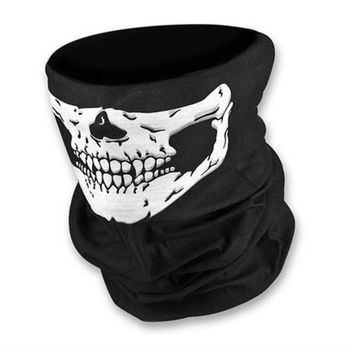 ESBET7 Skull Multi Bandana Bike Motorcycle Scarf Face Mask CS Ski Headwear Neck Party Masks Halloween Mask Motorcycle Mask Skull