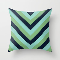 v lines - lake Throw Pillow by Her Art