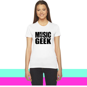 Music Geek_ women T-shirt