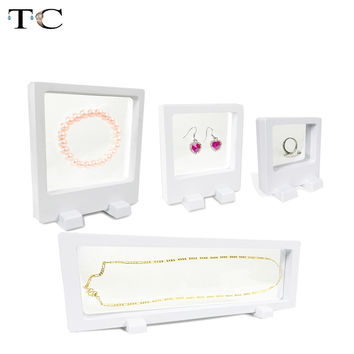 4pcs/lot PET Membrane Box Ring Earrings Bracelet Pendant Necklace Set Jewelry Display Stand Watch Holder