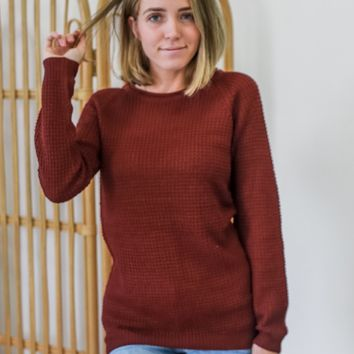 Apple Picking Sweater - Wine