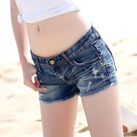 Hot Denim Shorts Jeans Shorts Female Women Summer Plus Size 2018 Fashion Women's Shorts Spring and Summer Women's Short