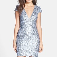 Women's Dress the Population 'Zoe' Sequin V-Neck Body-Con Dress