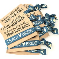 Bachelorette Party Favors | Hair Tie Favor | Team Bride | to have and to hold your hair back