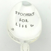 Spooners for Life-Hand Stamped Spoon,Gift for Boyfriend, Gift for Girlfriend, Gift for Husband, Gift for Wife