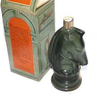 Vintage Avon, Bottle, Decanter, Horse, Collectible, Pony, Decanter, Avon Bottle, Empty With Box, 4 fl oz Bottle, Home Decor, Vintage Glass