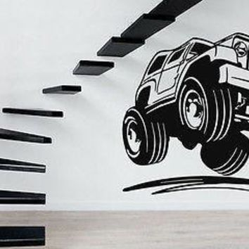 Wall Stickers Vinyl Decal  Jeep Army Truck Car Muscle Unique Gift z643