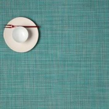 CHILEWICH Mini Basketweave Rectangular Placemat S/4 | Turquoise