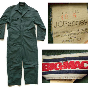 Vintage Big Mac JCPenney Mechanics Coveralls