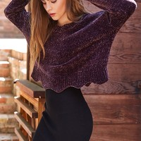 LA Hearts Scalloped Chenille Pullover Sweater at PacSun.com
