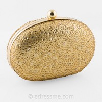 Scattered Stone Oval Box Bag by Camille La Vie
