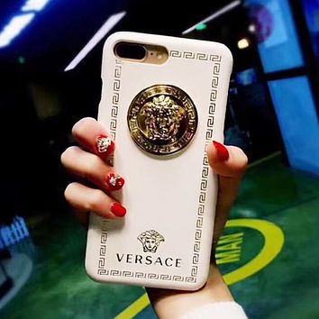 Versace Trending Leather Stylish Multicolor iPhone Phone Cover Case For iphone 6 6s 6plus 6s-plus 7 7plus 8 8plus X White I13338-1