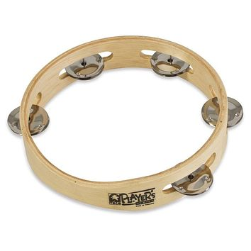 "Toca Wood Tambourine 7.5"" Single Row"