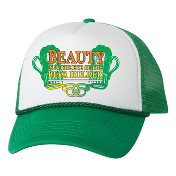 Beauty is in the eyes of the beer holder hat