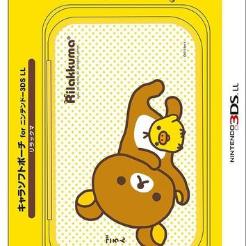 CREYXT3 Nintendo Official Kawaii 3DS XL Soft Case -Rilakkuma-