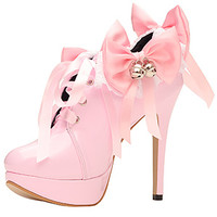5 Jingle Bows Maid Shoes [ftw-jingle-bows-maid-shoes] - £79.91 : The Fantasy Store, Sexy Fantasywear!