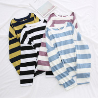 Buy LEMONADE Striped Long-Sleeve T-Shirt | YesStyle