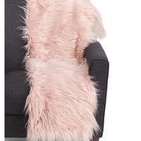 Faux Mongolian Fur Throw - Contemporary - T.J.Maxx
