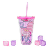 Disney Alice In Wonderland Acrylic Travel Cup And Ice Cube Set