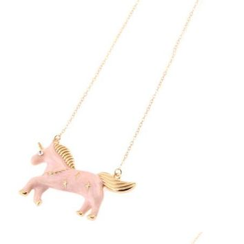 Pink Unicorn Necklaces