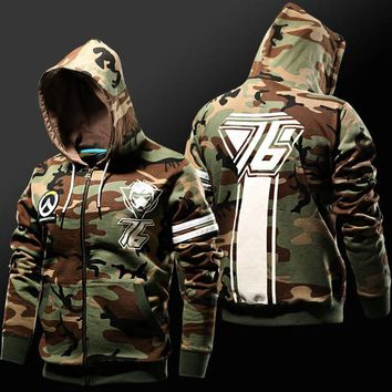 Overwatch Soldier: 76 Camo Zip-Up Hoodie