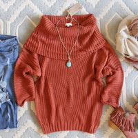 The Nubby Knit Sweater in Rust