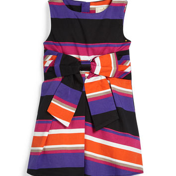 sleeveless jillian striped dress, multicolor, size 2-6, Size: 4, STRIPES - kate spade new york