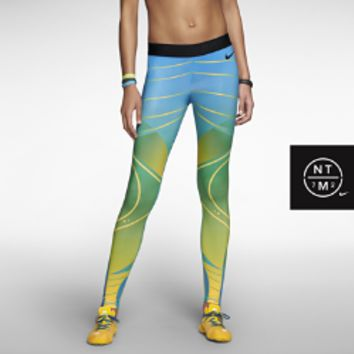 Nike Pro Brasil Print Women's Tights - Varsity Maize