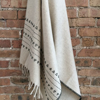 Mexchic | Druzi Embroidered Wool Blanket