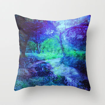 Creekbed Throw Pillow by DuckyB (Brandi)