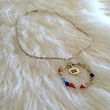 Equality Rainbow Hoop Necklace - Handmade, LGBT, Equality, No H8, Silver Tone, Rainbow Beads, Symbol, Gay Pride, Transgender