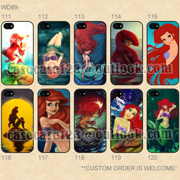 WD89 Disney Princess Little Mermaid Ariel Custom Case,iPhone 4/4s/5/5s/5C,Samsung Galaxy S2/S3/S4/S5/Note 2/3 Lite,Moto X/E/G cover
