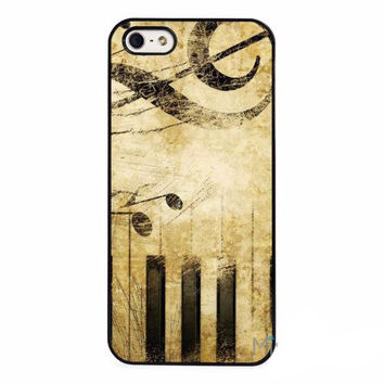 Vintage Music Piano Notes Chords Phone Protector Back Skin Cellphone Cases for iPhones and iPods