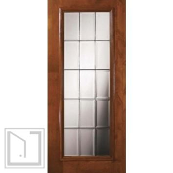 Slab French Exterior Single Door 80 Wood Alder French Full Lite Glass