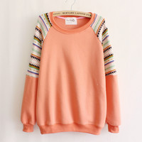 Cute round neck long-sleeved sweater