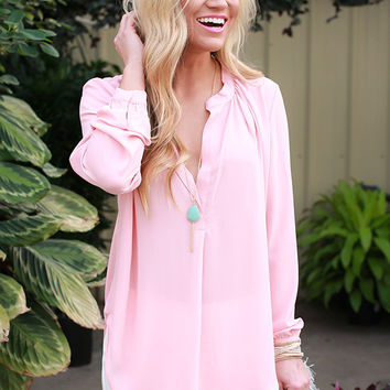 Juniper Darling Top in Rose Quartz