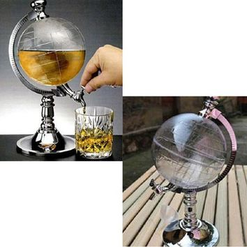 ONETOW Novelty Globe Shaped Beverage Liquor Dispenser Drink Wine Beer Pump Single Canister Pump High Quality