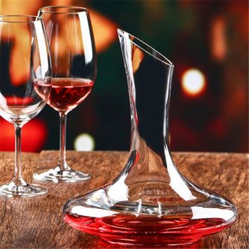 Crystal Glass Wine Decanter - Wine Carafe Aerator Wine Pourer - 1500 ml