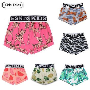 Baby Shorts for Girls Boys Baby Clothes Deer Printed Pants Baby Shorts for Underwear Summer Newborn Beachwear Pants SK133