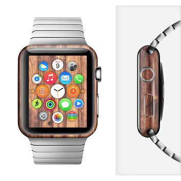 The Bright Stained Wooden Planks Full-Body Skin Set for the Apple Watch