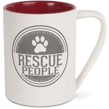 Rescue People Ceramic Mug -- 18-oz