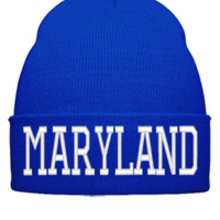 MARYLAND EMBROIDERY HAT - Beanie Cuffed Knit Cap