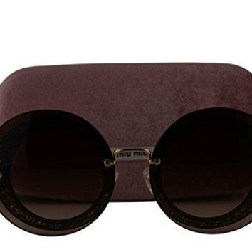 Miu Miu MU10RS Sunglasses Transparent Grey w/Brown Gradient Lens UES6S1 SMU 10R SMU10R MU 10RS
