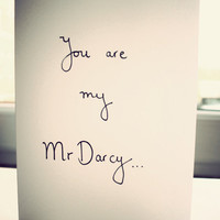 Mr Darcy Valentine card Hand drawn by Mr Teacup by MrTeacup
